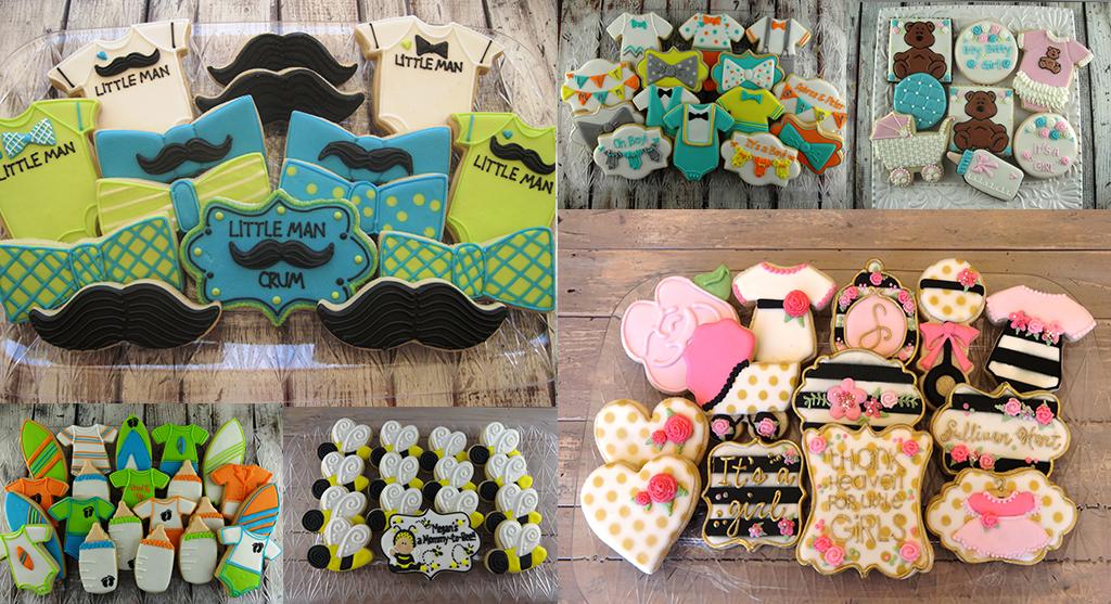 baby shower custom cookies chandler
