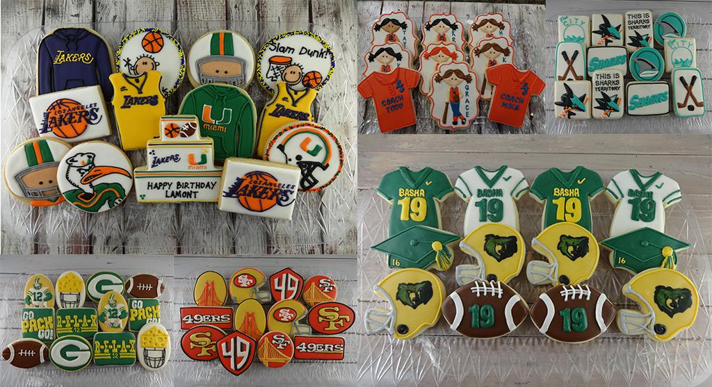 sports themed custom cookies chandler custom cookies